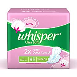 Whisper Ultra Soft Sanitary Pads XL� (15 Count)