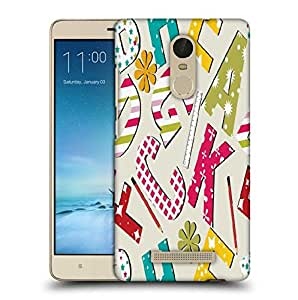 Snoogg Pencil Alphabets Designer Protective Phone Back Case Cover For Xiaomi Redmi Note 3