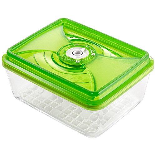 vacSy Vakuum Glasbehälter Zum Frischhalten von Lebensmitteln - Frischhalte-Box mit 3,8 Liter