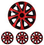 """Radkappen Radblenden Radzierblenden Draco Rot 16 Zoll 16"""" R16 universal passend für fast alle Fahrzeuge mit Standardstahlfelgen z.B. Honda"""