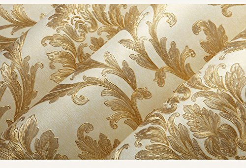ZLYAYA Tapete,Wandtapete,Wand Dekoration,wandsticker,Europäische Vliestapeten 3D Wallpaper...