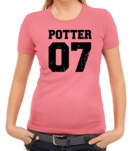 Fanartikel Fan Kult Film Trikot Damen T-Shirt Potter 07, Größe: S,Rosa