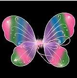 Glitzer Elfen Engel Flügel Fee Engel Kostüm Kinder,Schmetterlingsflügel Verkleiden Neuheit Cosplay Kostüm Party für Zauberer Kostüm für Halloween Tanzparty, Fest, Geburtstag,Schauspiel (Schmetterlingsflügel)
