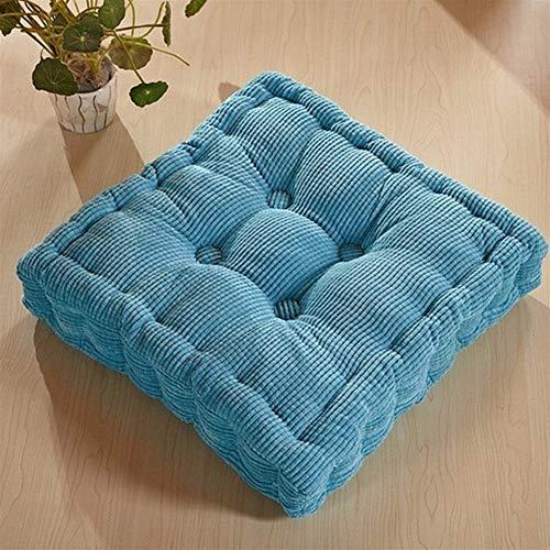 Maiskolben Tatami Sitz Bürostuhl Sofa Stoff Outdoor Kissen Wohnkultur Textil Knie Kissen (Color : Aqua blue, Specification : 43x43) -