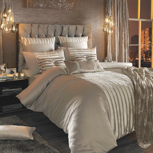 Kylie Minogue At Home Brown 'Lucette Praline' 200 Thread Count Duvet Cover King
