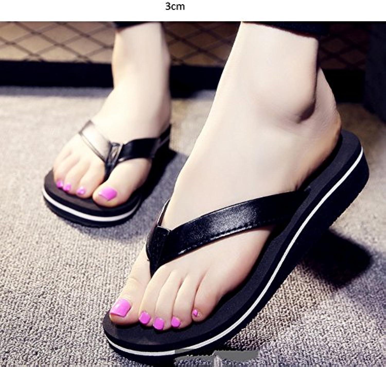 Chaussons à talons hauts Chaussures féminines à l'été Chaussons épais pantoufles Pente avec pantoufles épais fraîches  s...B077WW25JJParent 7947b4