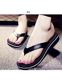 Chanclas Zapatillas de tacón alto Zapatillas antideslizantes de calzado (2 colores opcionales) (tamaño opcional)