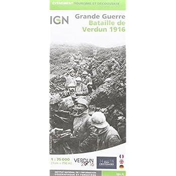 87055 BATAILLE DE VERDUN 1916 1/75.000