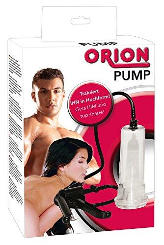 ORION Penispumpe - Vakuumpumpe mit handlichem Scherengriff für extra starkes Potenz-Vakuum, Stimulation und Training gleichzeitig - 2