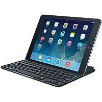 Logitech Ultrathin Magnetic Clip-On Keyboard Cover für iPad Air (kabellose Bluetooth-Tastatur und Halterung, deutsches Tastaturlayout QWERTZ) schwarz