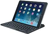 Logitech Ultrathin Magnetic Clip-On Keyboard Cover für iPadAir 2 (kabellose Bluetooth-Tastatur und Halterung, deutsches Tastaturlayout QWERTZ) schwarz