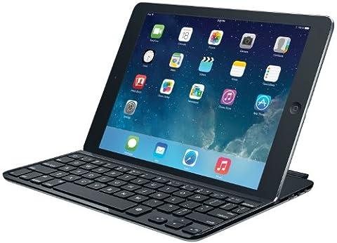 Logitech Ultrathin Magnetic Clip-On Keyboard Cover für iPad Air (kabellose Bluetooth-Tastatur und Halterung, deutsches Tastaturlayout QWERTZ)