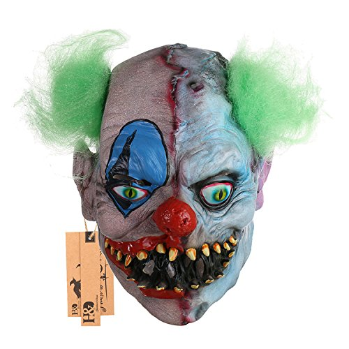 alloween Latex Clown Maske mit Haar für Erwachsene, Halloween-Kostüm Party Requisiten Masken ()