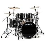 Sonor ProLite PL 12 Stage 3 Brilliant Black · Schlagzeug