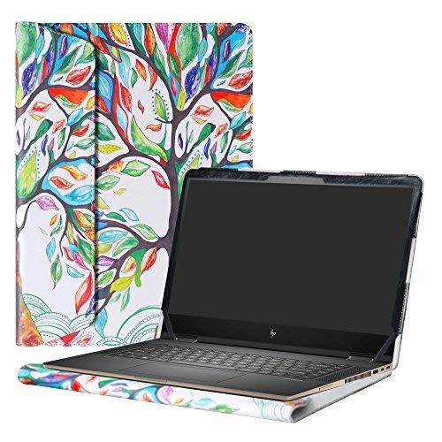 """Alapmk Diseñado Especialmente La Funda Protectora de Cuero de PU para 15.6"""" HP Notebook 15-bsXXX / 15-bwXXX/HP 250 G6 / HP 255 G6 / HP 256 G6 Ordenador portátil,Love Tree"""
