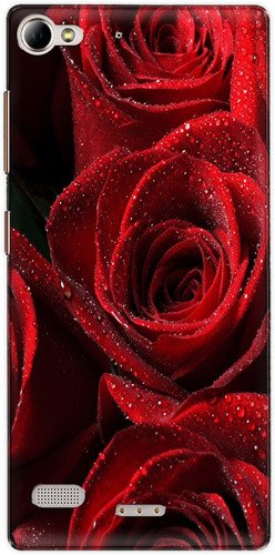 The Racoon Lean printed designer hard back mobile phone case cover for Lenovo Vibe X2. (Red Rose)  available at amazon for Rs.99