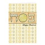 Tarjeta de Pascua, tarjeta de felicitación para el día de fiesta judío Pascua de, tarjeta individual y sobre