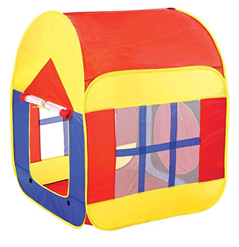 Kinder Zelt Pop-up Spielzelt Indoor und Outdoor Spielhäuser geeignet in Kinderzimmer Garten Rasenplatz (Rot)