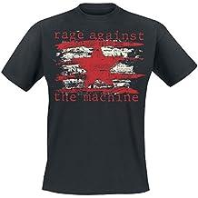 Rage Against The Machine Newspaper Star T-Shirt schwarz