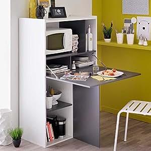 regal mit klapptisch wei grau pharao24 k che haushalt. Black Bedroom Furniture Sets. Home Design Ideas