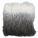 Dipdyed Mongolisches Lammfell Kissen, ein wunderschönen Sitzkissen, ideal für das Hinzufügen ein Hauch von Luxus für jeden Raum. Aus Eightmood Kissen aus Dupionseide. Maße: 40x 40cm