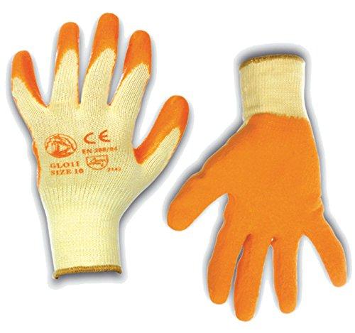 Beschichtete Arbeits-handschuhe (STI Handschuhe aus Baumwolle 100% Latex-beschichtet-Arbeit Monofil waschbar wiederverwendbar (Promo 4Pack), Blau Medium)
