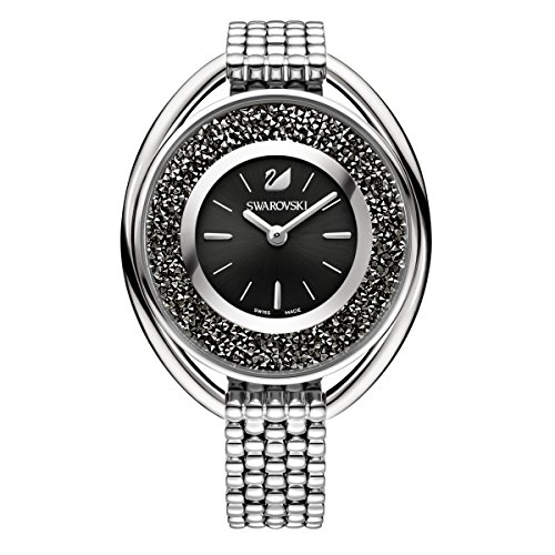 swarovski Crystalline Oval Black Braccialetto Watch