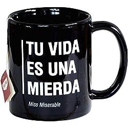 Miss Miserable - Taza mug existencialista: ''eres tonto''
