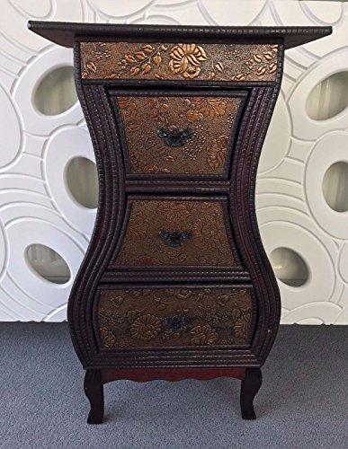Home delights legno scuro toni stile orientale cinese e cassettiera armadio comodino casa mobili
