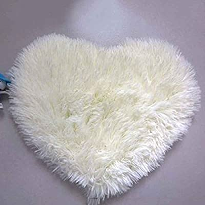 LUFA Heart Shaped Non-Slip Soft Tufted Rug Mat Carpet Floor Mat Area Rug Creamy white&30*40cm - low-cost UK light store.