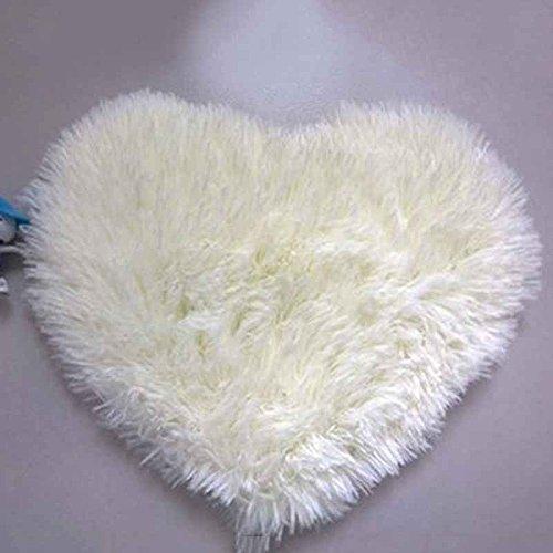 QHGstore Rutschfeste weiche getuftete teppich matte carpet bodenmatte bereich teppich cremeweiß & 30 * 40 cm