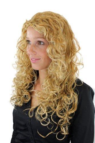 Damenperücke, gelockte, sehr lange, gemischtes Blond, Nixe, Mermaid, Meerjungfrau, (Die Perücke Meerjungfrau Ariel)