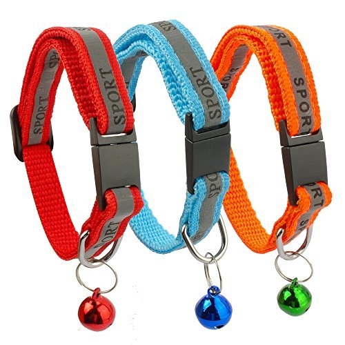 3-pack Haarspangen (Bemix Pets Reflektierendes Katzenhalsband mit Glocke, 3er Set, Robust, Nylon, Coole Halsbänder für Hauskatzen)