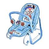Lorelli Baby Rocker, Babywippe TOP RELAX, verstellbar, Stuhl, Tragehenkel blau