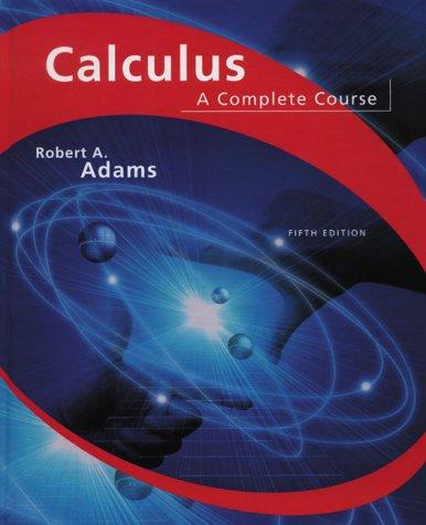 Calculus: A Complete Course por Robert A. Adams