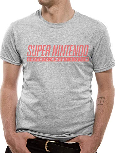 Official Super Nintendo SNES Logo T-shirt for Men