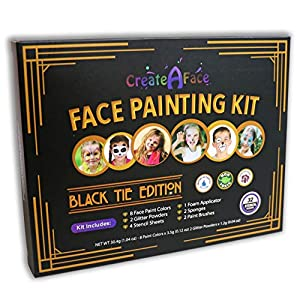 Truccabimbi Kit di Colori + Stencils (Edizione Speciale, 47 Pezzi) Pennelli, Spugnette e Applicatori Inclusi - 100… 5 spesavip