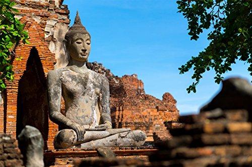 Buddha Buddhismus Religion XXL Wandbild Kunstdruck Foto Poster P0774 Größe 90 cm x 60 cm, Größe 90 cm x 60 cm