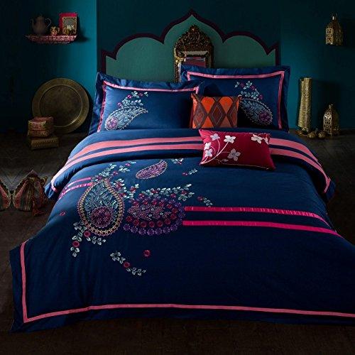 KKCDB die nationalen Stil, Klassische Stickereien, Reine Baumwolle, Vier sätze von dornen, bestickten Teppich Decken, bettwäsche, betten,West,1,8 (1,80). -
