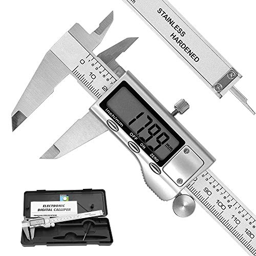 Messschieber Digitale Schieblehre REEXBON 150mm/6 Zoll Hochpräzise Edelstahl Messlehre Messwerkzeuge mit Ersatzbatterie LCD Display Schutzbox für Haushalt und Industrie Messung