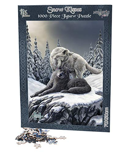 Lisa Parker Snow Kisses - 1000 Piece Wolf Jigsaw (Wolf Schwanz Graue)
