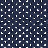 Baumwollstoff Punkte Navy Blau Webware Meterware Popeline