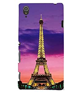 Printvisa Glowing Eiffel Tower Back Case Cover for Sony Xperia T3