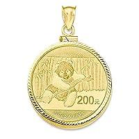 IceCarats 14k Yellow Gold Screw Top 1/2p Bezel Coin