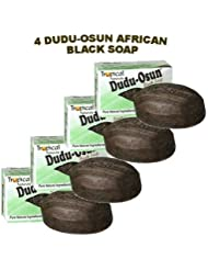 Dudu-Osun African Black Soap (100% Pure) Pack of 4 Body Care / Beauty Care / Bodycare / BeautyCare by Sponsei
