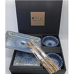 Tokyo Design Studio, Sushi Set, Nippon Blue Series, 6-teilig, Japan