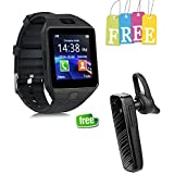 Padraig DZ09 Smartwatch and Wireless In the Ear Headphone with Mic (Black)