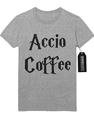 """T-Shirt Harry Potter """"ACCIO COFFEE"""" H123132 Grau"""