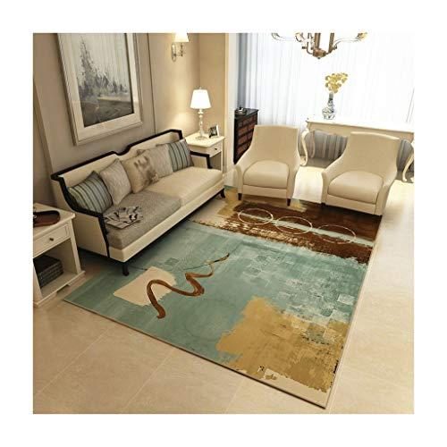 GZP Teppiche Rechteckiger Teppich American Home Wohnzimmer Couchtisch Teppich Einfache Europäische Teppich Schlafzimmer Mat Leicht Zu Reinigen Decke (Farbe : B, größe : 120cm*160cm) -