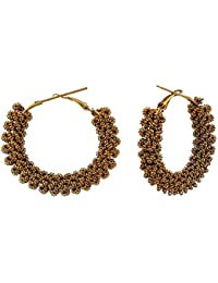 Golden Earrings, Artificial Jewellery Designer Gold Plated Earrings Set For Girls And Women,Gold Plated Traditional...